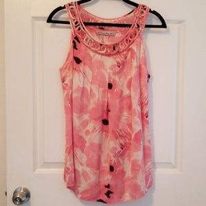 Signature by Larry Levin Pink Top size Large